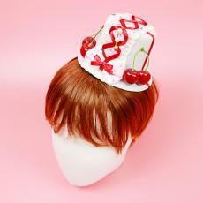 체리 레이스 모자 머리핀