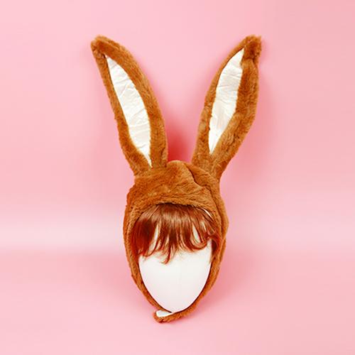 긴 토끼귀 모자 (브라운)