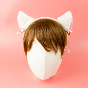 고양이 귀 머리띠 (화이트/핑크/블랙)