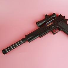 소음기 불빛&사운드 전동권총