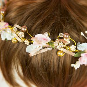 럭셔리 꽃열매 보석 화관