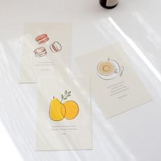 오디너리 포스트카드(마카롱/커피/프루츠)