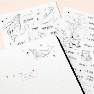 배럴댄스티커_일기 고래별자리