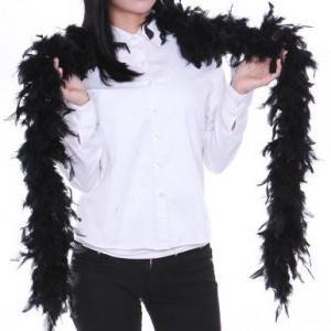 깃털 목도리(블랙/화이트)
