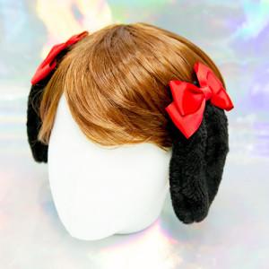 리본 롭이어 토끼귀 머리핀