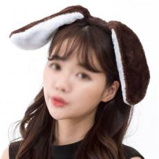 강아지머리띠 (다크브라운)