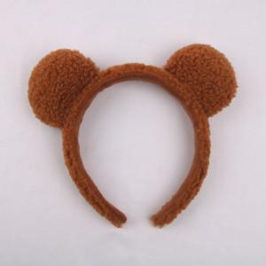 갈색 곰돌이 머리띠