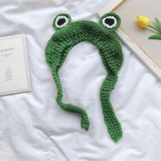 개구리 니트 귀도리