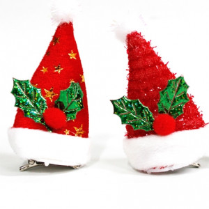 LED 산타 머리핀