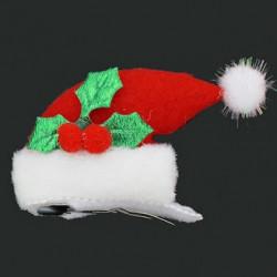 산타모자 머리핀 2p