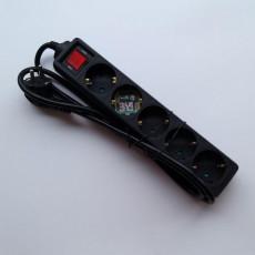 멀티탭 블랙 5구 (1.5m)