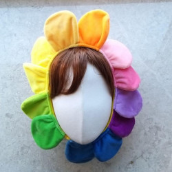 무지개 꽃머리띠