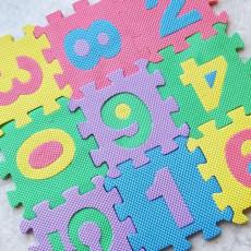 미니 퍼즐 숫자 매트 10개입
