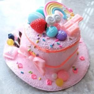 달콤한 핑크빛 케이크 모자핀