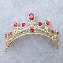보석 왕관 (면사포 연결)