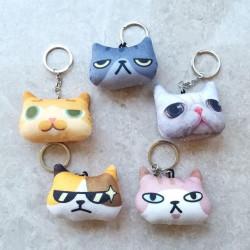 고양이 얼굴 열쇠고리