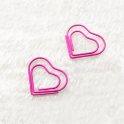 5개)핑크 하트 북클립