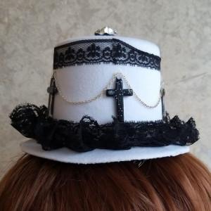 십자가 고딕 로리다 모자 머리핀