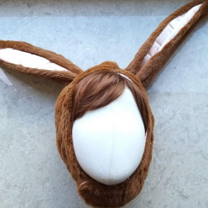 리얼 토끼 모자