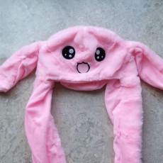 귀가 뿅뿅 움직이는 핑크토끼 모자