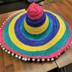 칼라 멕시칸 모자